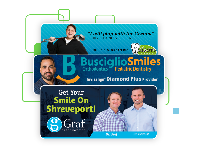 Orthodontic marketing billboard design